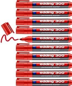 edding 300 Permanentmarker rot, 10er-Pack (4-300002#10)