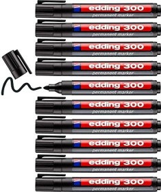 edding 300 Permanentmarker schwarz, 10er-Pack (4-300001#10)