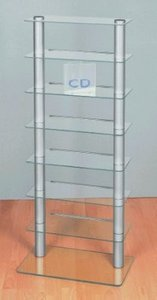 VCM Melodia for 224 CD`s aluminum (CD+DVD Rack)