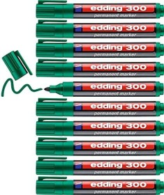 edding 300 Permanentmarker grün, 10er-Pack (4-300004#10)
