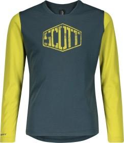 Scott Trail Dri Trikot langarm nightfall blue/lemongrass yellow (Junior) (275366-6438)