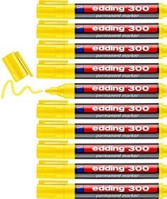 edding 300 Permanentmarker gelb, 10er-Pack (4-300005#10)