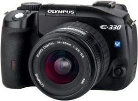 Olympus E-330 schwarz mit Objektiv 14-45mm 3.5-5.6 und 40-150mm 3.5-4.5 (E0413087)