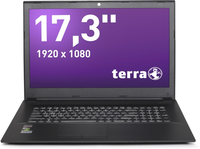 Wortmann Terra Mobile 1776P, Core i7-8750H, 8GB RAM, 1TB HDD, 240GB SSD, GeForce GTX 1050 4GB (1220608)