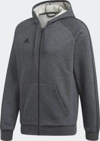 adidas Core 19 Hoodie Jacke dark grey heather/black (Herren) (FT8070)