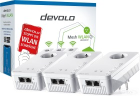 devolo Mesh WLAN 2 Multiroom Kit, G.hn, 2.4GHz/5GHz WLAN, 2x RJ-45, 3er-Bundle (8760 / 8764)