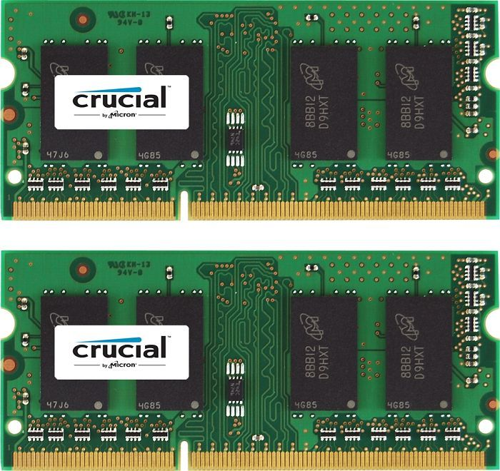 Crucial SO-DIMM kit 8GB, DDR3-1066, CL7 (CT2KIT51264BC1067)