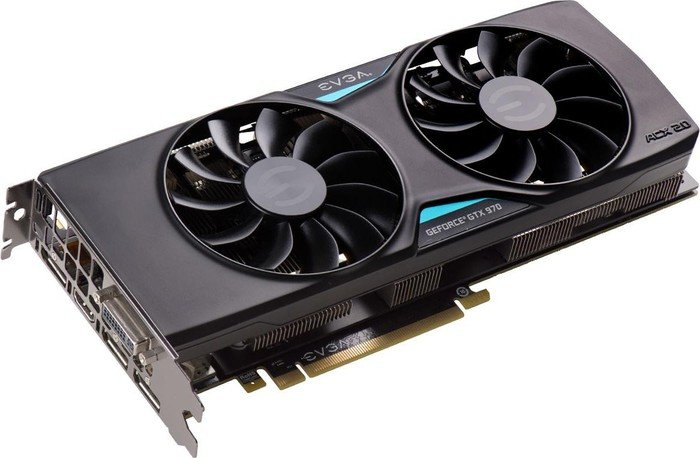 EVGA GeForce GTX 970 SSC ACX 2.0+, 4GB GDDR5, DVI, HDMI, 3x DisplayPort (04G-P4-3975-KR)