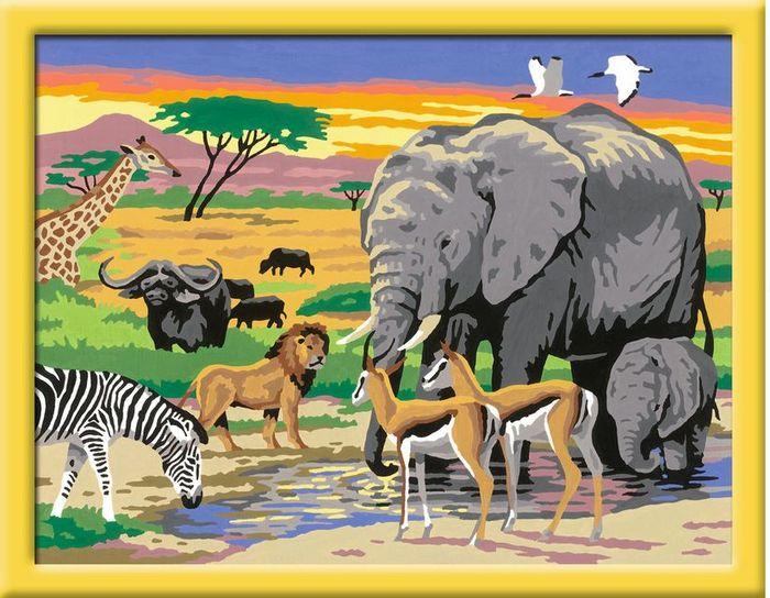 ravensburger malen nach zahlen tiere in afrika preisvergleich geizhals sterreich. Black Bedroom Furniture Sets. Home Design Ideas