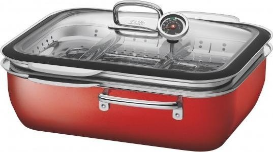 WMF Silit steamer Ecompact with cover energy red (1738.1748.31)