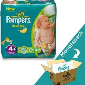 Pampers Baby-Dry Gr.4+ Einwegwindel, 9-20kg, 104 Stück