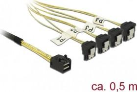 DeLOCK mini SAS [SFF-8643] auf 4x SATA gewinkelt, 0.5m (85684)