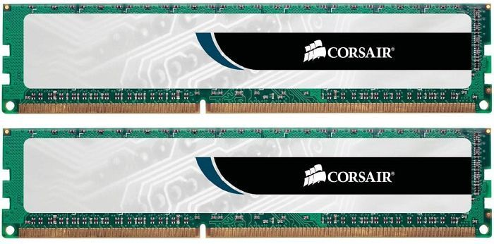 Corsair ValueSelect DIMM kit 8GB, DDR3-1333, CL9-9-9-24 (CMV8GX3M2A1333C9)