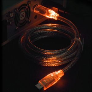 "FireWire IEEE-1394 ""LED"" cable orange/orange 6-Pin/6-Pin, 1.8m/2.0m"
