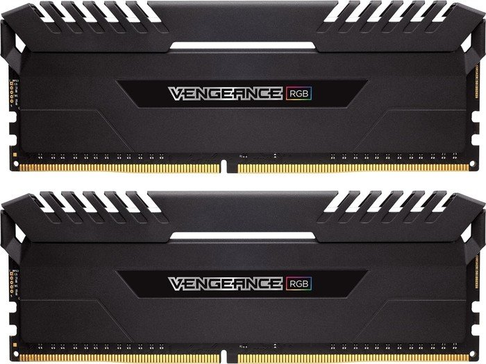 Corsair Vengeance RGB black DIMM kit 16GB, DDR4-3200, CL16-18-18-36  (CMR16GX4M2Z3200C16) from £ 288 58