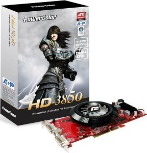PowerColor Radeon HD 3850,  512MB GDDR3, 2x DVI, TV-out (R67CG-PE3A)