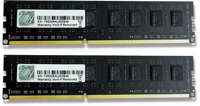 G.Skill Value DIMM Kit   8GB, DDR3-1333, CL9-9-9-24 (F3-10600CL9D-8GBNT)