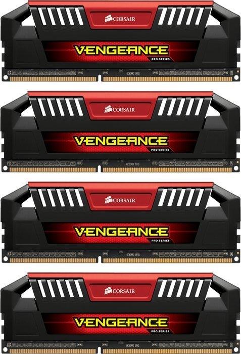 Corsair Vengeance Pro rot DIMM Kit 16GB, DDR3-2133, CL9 (CMY16GX3M4A2133C9R)