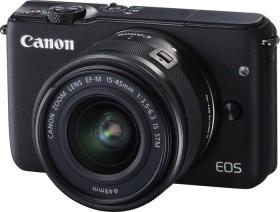 Canon EOS M10 schwarz mit Objektiv EF-M 15-45mm 3.5-6.3 IS STM (0584C012)
