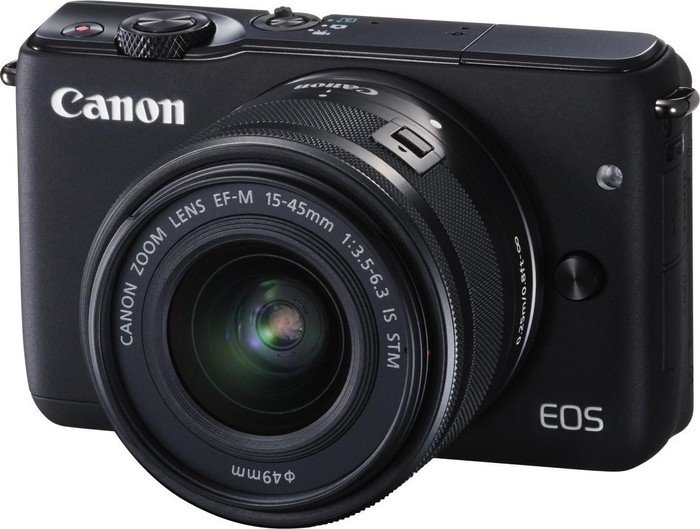 Canon EOS M10 black with lens EF-M 15-45mm 3.5-6.3 IS STM (0584C012)
