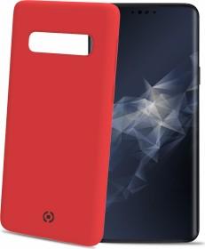 Celly Feeling für Samsung Galaxy S10 rot (FEELING890RD)