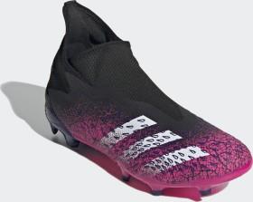 adidas Predator Freak.3 Laceless FG core black/cloud white/shock pink (Herren) (FW7512)