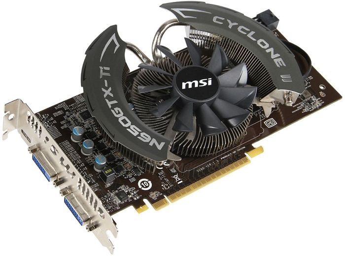 MSI N650Ti-PE-1GD5/OC GeForce GTX 650 Ti, 1GB GDDR5, 2x DVI, mini HDMI (V280-025R)
