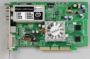 Leadtek WinFast A180 TDH Cinema, GeForce4 MX440, 64MB DDR, TV-Tuner, DVI, ViVo, AGP