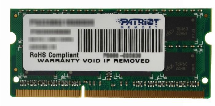 Patriot signature Line SO-DIMM 2GB PC3-10600S CL9 (DDR3-1333) (PSD32G133381S)