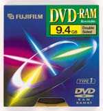 Fujifilm DVD-RAM 9.4GB 3x, 1er cartridge T4