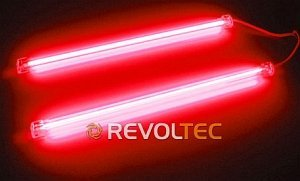 Revoltec CCF/Cold cathode tubes Twin set red, 30cm (RM025)
