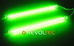 Revoltec CCF/Cold cathode tubes Twin set green, 30cm (RM024)