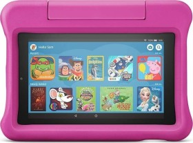 Amazon Fire 7 KFMUWI 2019, ohne Werbung, 16GB, pink, Kids Edition (53-016348)