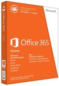 Microsoft Office 365 Home, 1 Jahr, PKC (deutsch) (PC) (6GQ-00046)