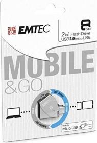 Emtec T250B 8GB, USB-A 2.0/USB 2.0 Micro-B (ECMMD8GT252B)
