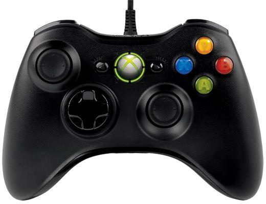 Microsoft Xbox 360 Wired kontroler czarny (Xbox 360) (S9F-00002)