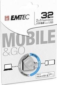 Emtec T250B 32GB, USB-A 2.0/USB 2.0 Micro-B (ECMMD32GT252B)