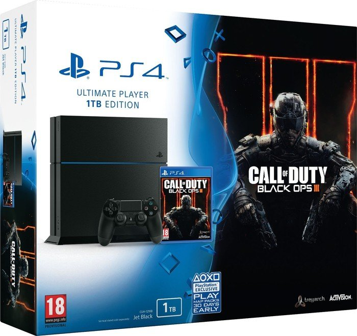 Sony Playstation 4 1tb Call Of Duty Black Ops Iii Bundle Schwarz