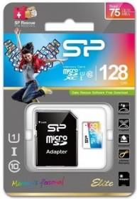 Silicon Power Elite R75/W15 microSDXC 128GB Kit, UHS-I U1, Class 10 (SP128GBSTXBU1V20SP)