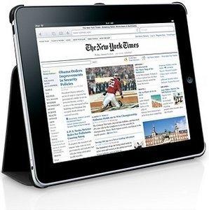 Macally Bookstand Schutzhülle und Ständer für iPad schwarz