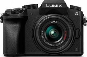 Panasonic Lumix DMC-G70 schwarz mit Objektiv Lumix G Vario 14-42mm 3.5-5.6 OIS Starter-Kit (DMC-G70START)
