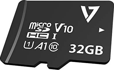 V7 R90/W18 microSDHC 32GB Kit, UHS-I U1, A1, Class 10 (VPMSDH32GU1) -- via Amazon Partnerprogramm