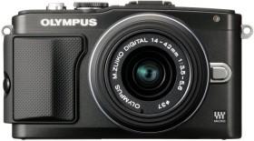 Olympus PEN E-PL5 schwarz mit Objektiv M.Zuiko digital 14-42mm II (V205041BE010)
