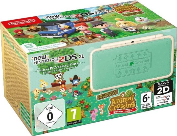 Nintendo New 2DS XL Animal Crossing Bundle mint/cream