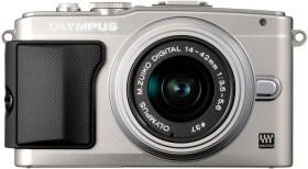 Olympus PEN E-PL5 silber mit Objektiv M.Zuiko digital 14-42mm II (V205041SE010)