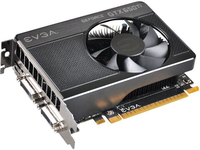 EVGA GeForce GTX 650 Ti, 1GB GDDR5, 2x DVI, mini HDMI (01G-P4-3650)