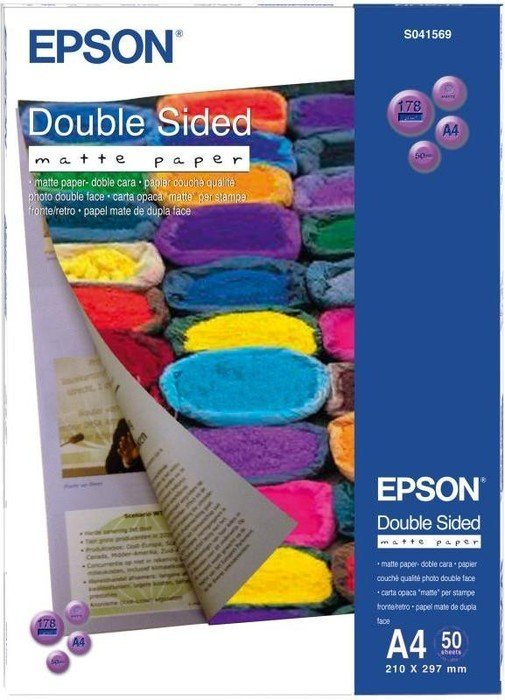 Epson S041569 Double Sided Matte Papier A4, 178g, 50 Blatt