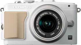 Olympus PEN E-PL5 weiß mit Objektiv M.Zuiko digital 14-42mm II (V205041WE010)