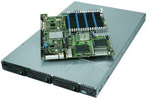 Intel SR1560SF, 1U (2x Xeon Socket 771, FB-DIMM PC2-5300F)