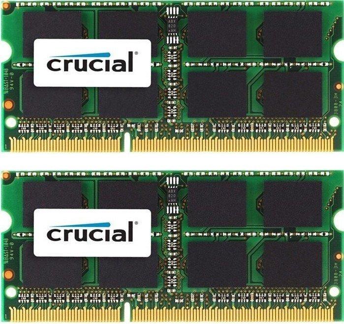 Crucial SO-DIMM kit 8GB, DDR3L-1866, CL13 (CT2K51264BF186DJ)